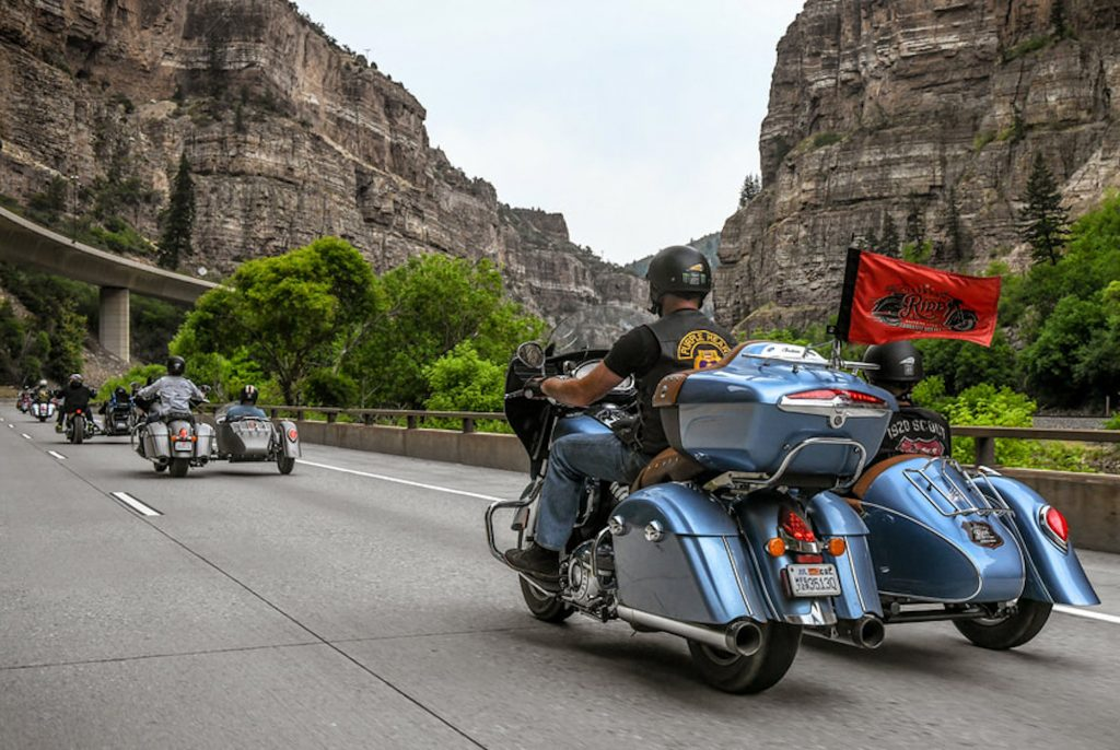The Veterans Charity Ride runs from Salt Lake City, Utah, to the Sturgis Bike Rally, through some of the West's most iconic backroads. This leg took them from Moab, Utah, to Eagle.