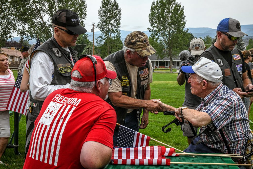 Veterans and well wishers of all generations were in Eagle to greet the Veterans Charity Ride.