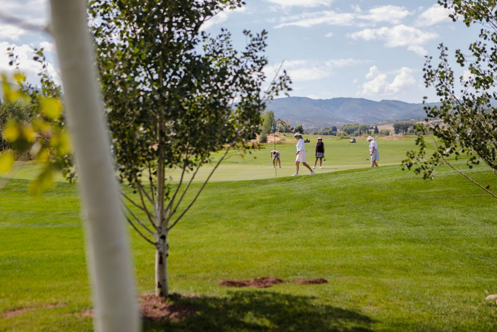 Women get their practice rounds in before the 2019 Colorado Golf Association Ladies Dunham Chapman Championship Friday in Gypsum.