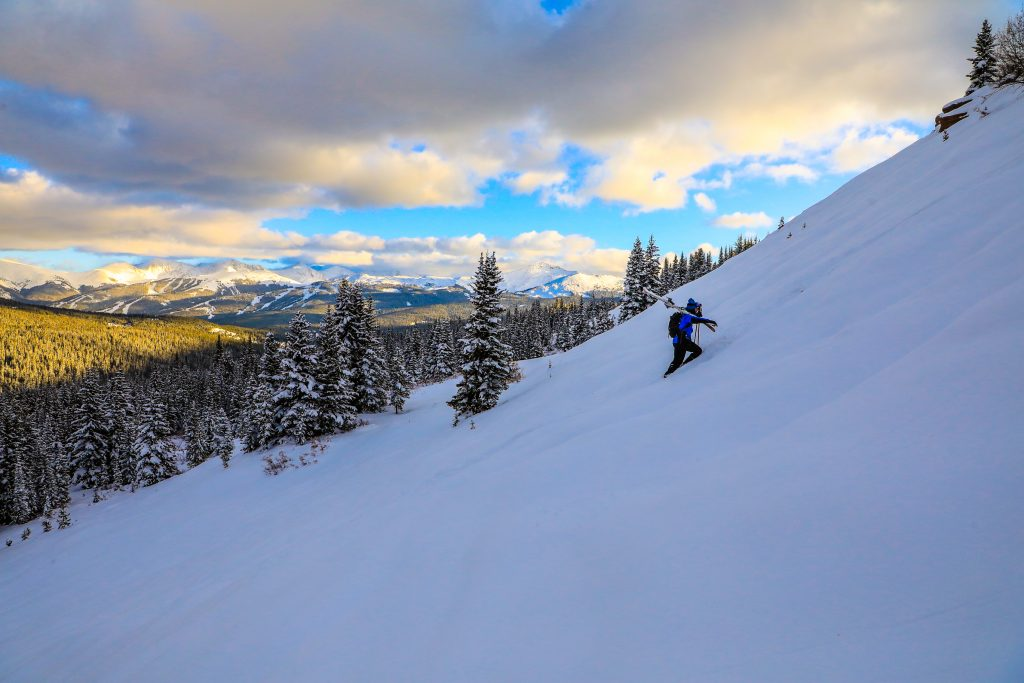 Bennett Levine gets the goods in the backcountry Wednesday outside of Vail. Areas of Colorado picked up healthy totals for October during the last storm.