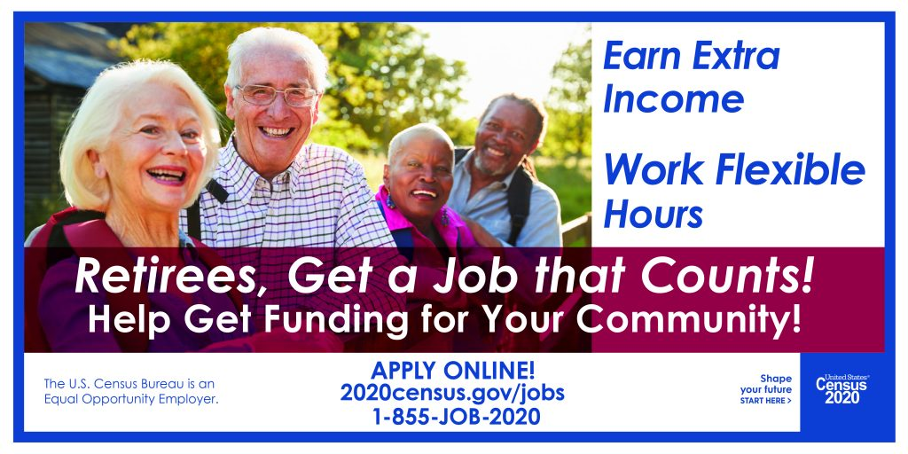 Recruitment materials for U.S. Census workers make an appeal to community-minded candidates.