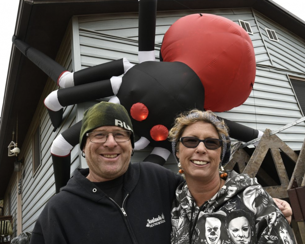 For nearly two decades David and Katie Hall have been inviting families into their home for a little candy and a lot of scares as part of haunted holiday. (Kyle Mills / Citizen Telegram)
