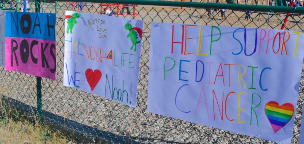 Students made all sorts of posters supporting 5-year-old Noah Mills, who is recovering from surgery for cancer in both his kidneys
