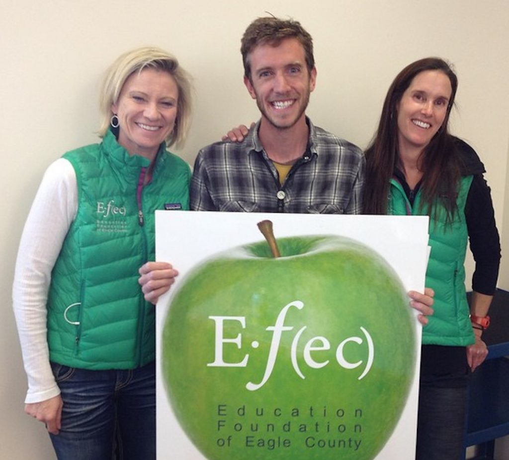Kirchner, left, helped resurrect the Education Foundation of Eagle County, EFEC, which presents local teachers with Apple Awards and many other ways to support public education.