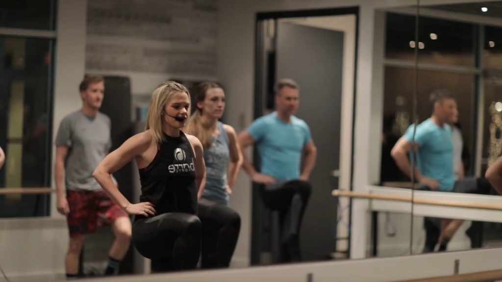 Jessica Denton, co-owner of Barre Forte, leads a class at the studio in Edwards. Barre Forte is hosting a Barre-A-Thon and other events to raise money for the Vail Breast Cancer Awareness Group.