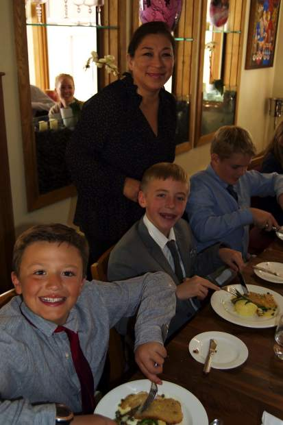 La Tour Restaurant owner Lourdes Ferzacca hosted the Vail Ski & Snowboard Academy fifth grade cotillion class during their graduation luncheon and dance on Tuesday, Oct. 15.