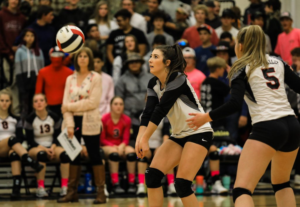 Eagle Valley's McKayla Williams bumps the ball against Battle Mountain Thursday in Edwards.