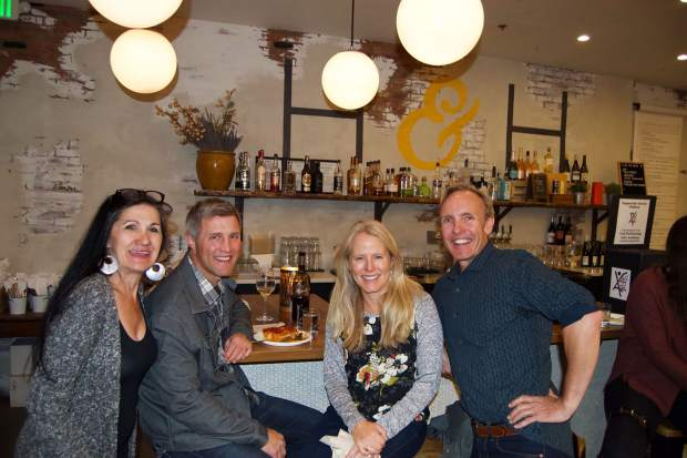Vail Performing Arts Academy's Executive Producer Annah Scully with Brian and Dana Maurer and Artistic Director Colin Meiring at VPAA's Karoke Cafe.