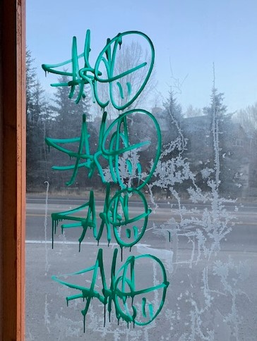Graffiti is being sprayed up and down the valley, local law enforcement says. The Eagle County Sheriff's Office is asking for anyone with information to call them.