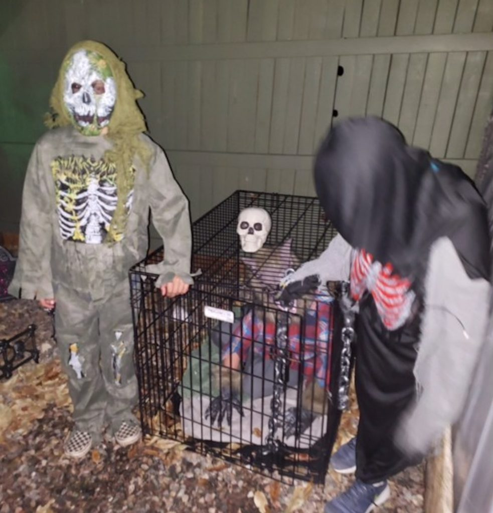 They run their haunted house the Friday of Halloween week.
