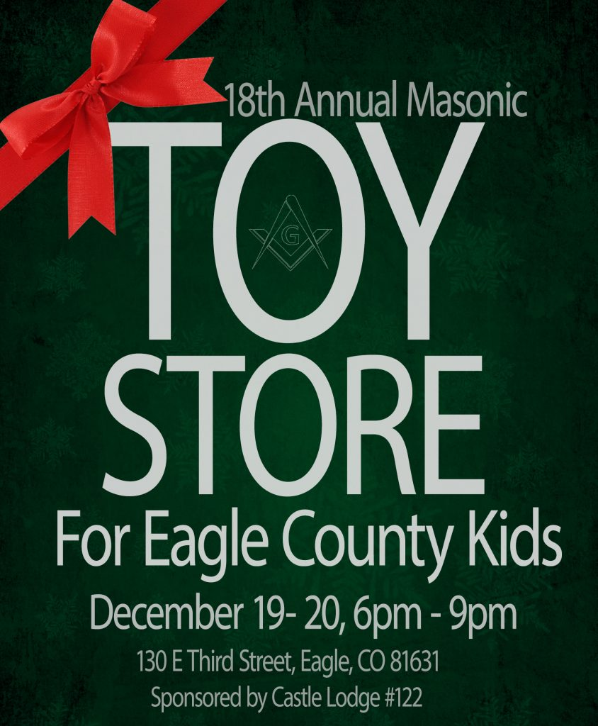 This year's 18th annual Masonic Toy Store is Dec. 19-20. They're still collecting toys and cash donations to buy toys.