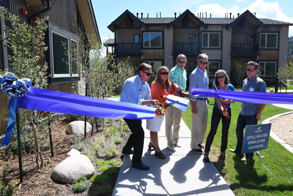 The Eagle River Water and Sanitation District's Stillwater project is 21 workforce housing units in Edwards. It opened this summer. The water district is one of the region's workforce housing leaders.