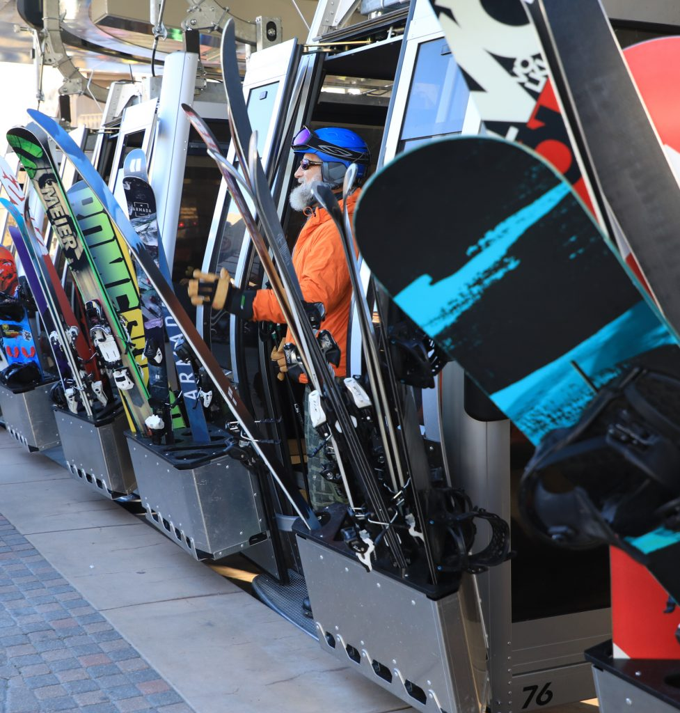 Gondola One cabins are loaded with people and equipment as the gondolas start spinning for the season on Vail's opening day Friday in Vail Village. Thousands of skiers and riders graced Vail's slopes for opening day.