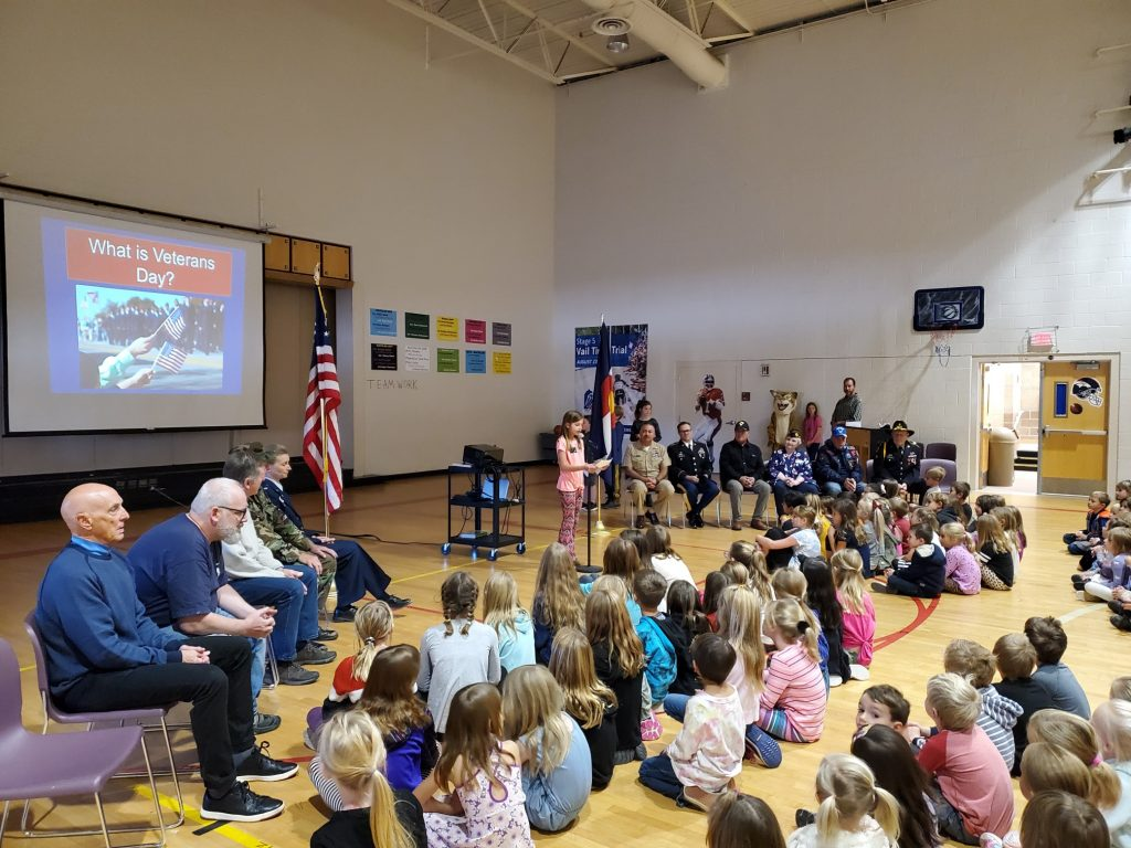 Veterans from the Mount of the Holy Cross VFW Post 10721 out of Minturn were busy visiting 19 schools and being part of receptions, assemblies and classroom talks leading up to Veteran's Day on Monday.
