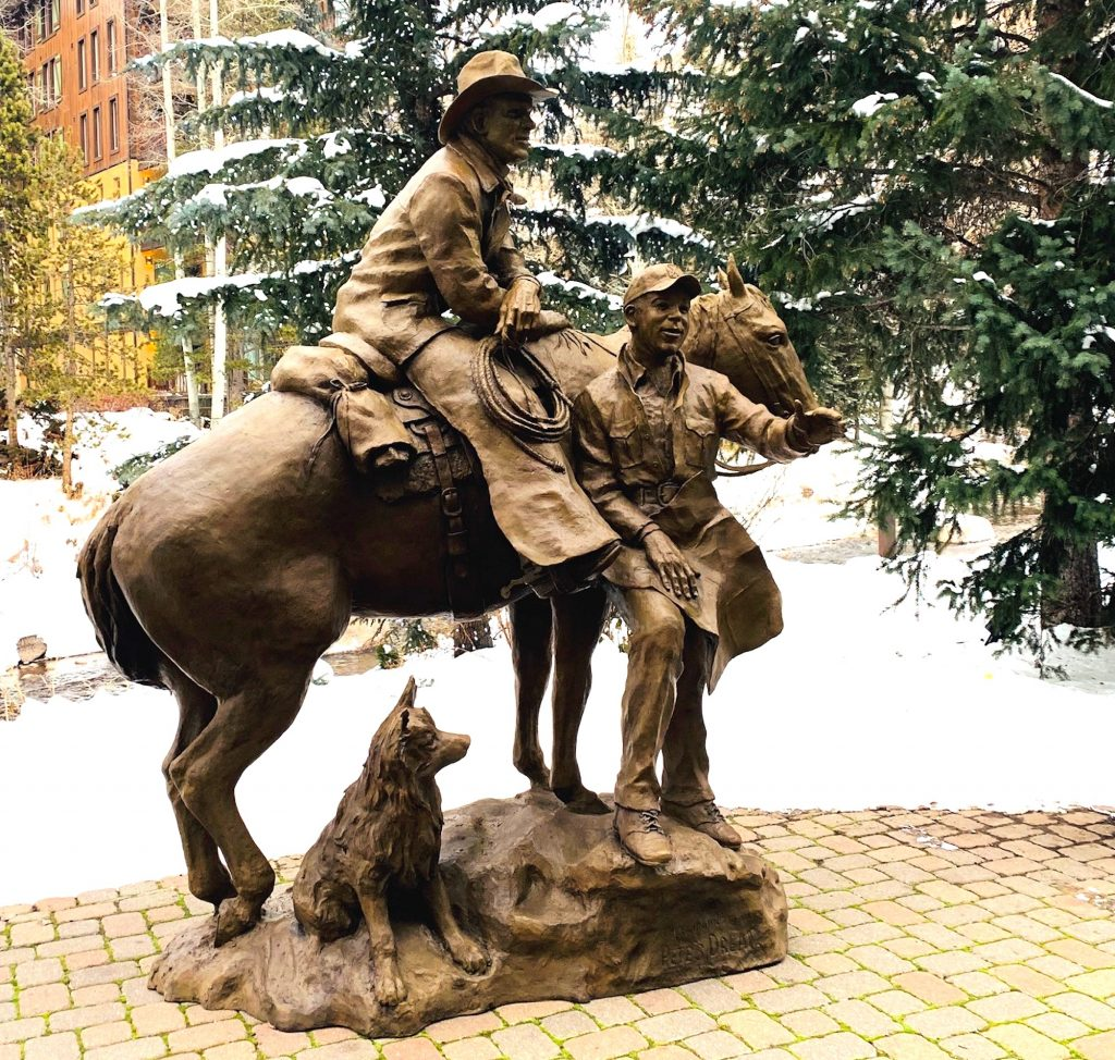 Pete Seibert was always happy to share his vision of Vail with anyone who asked. The sculpture,