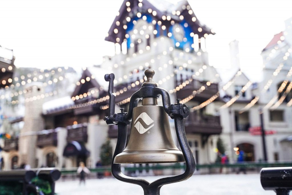 The bells are custom-made and are rung each day at 3 p.m. on Vail Mountain and at the après events. It connects back to Vail's European influence.