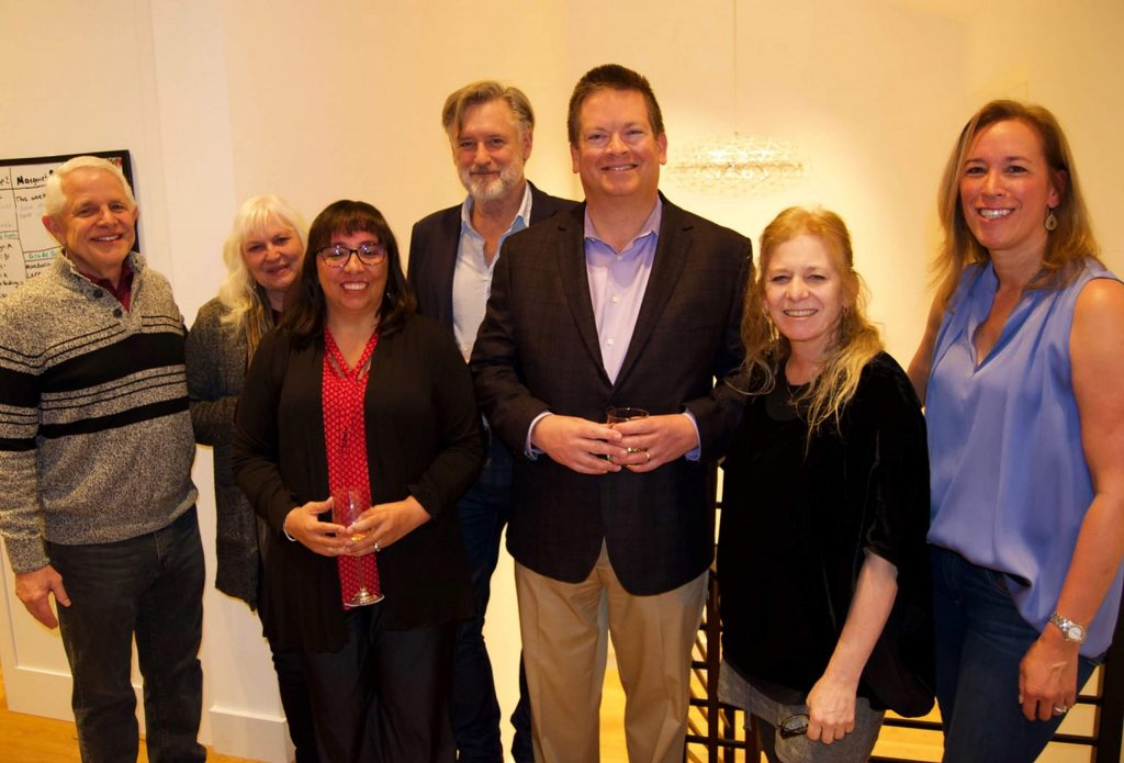 Michael and Kathy Imperi, Stacy Brown, Bill Pullman, Mike Brown, Jennifer McCray Rincon and Katie Campbell enjoy the party at Campbell's East Vail residence.