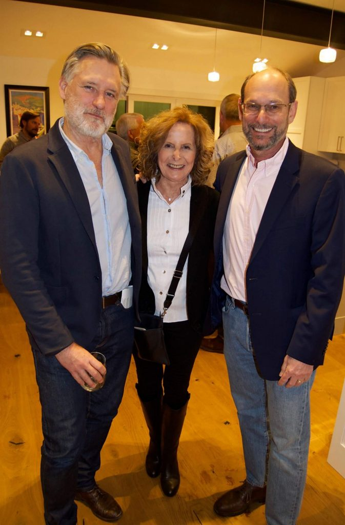 Bill Pullman meets Brenda and Alan Himelfarb at the cocktail party.