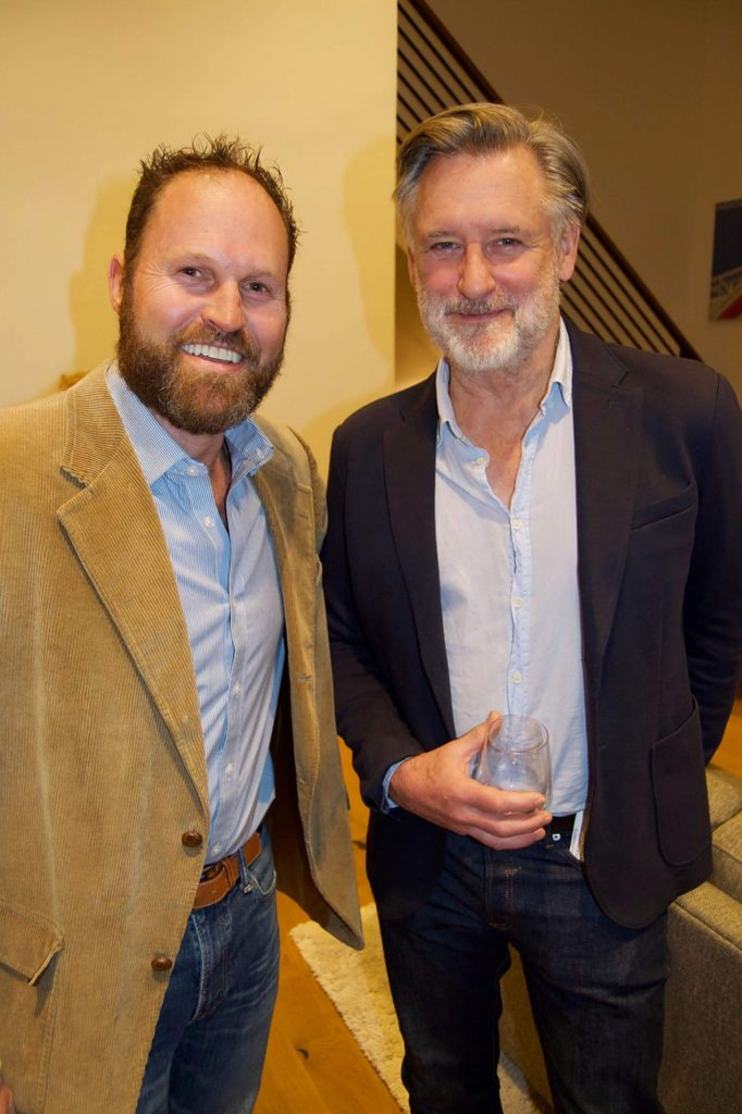 Phillip Pillsbury and Bill Pullman enjoy the party at the Campbell residence.