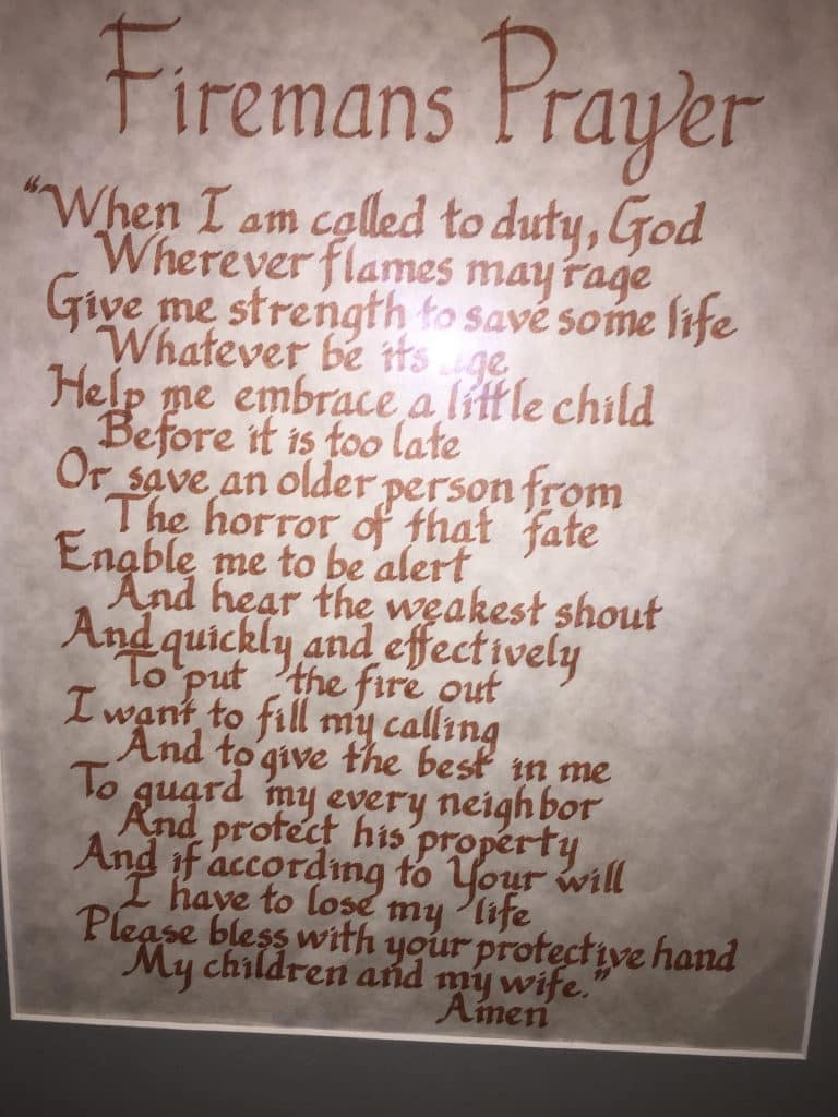 The Fire Fighter's Prayer.