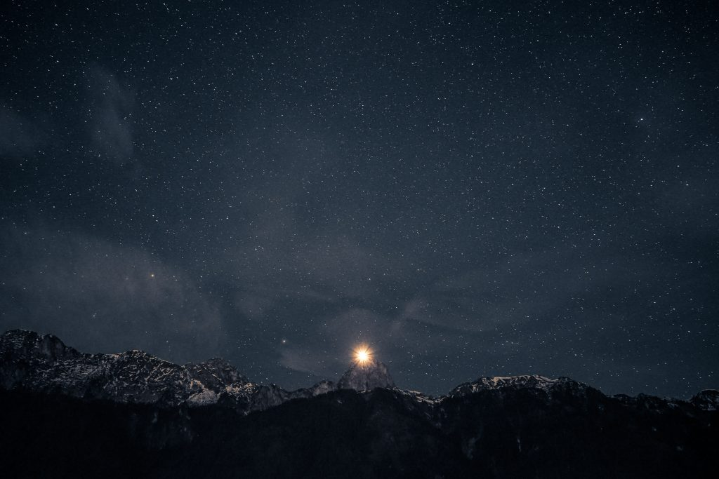 Enjoy the first full moon of 2020, which is called a wolf moon, by joining Walking Mountains for a night snowshoe and forest bathing event on Friday.