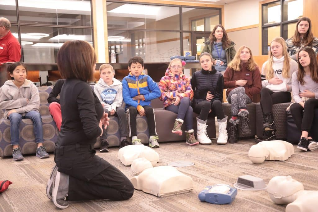 Vail Mountain School students continued a decades-long tradition of spending Martin Luther King Day volunteering and working on community service projects, a day on instead of a day off. Among other things, students learned life-saving techniques from local first responders.