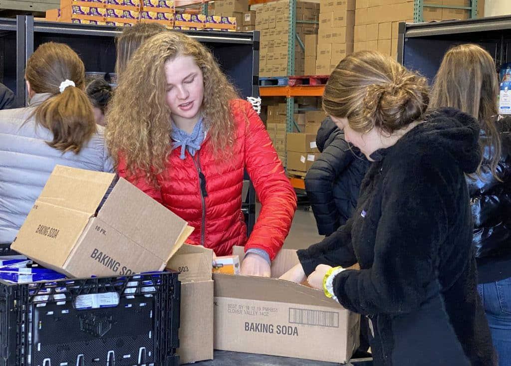 VMS students packed food for the Community Market, a food bank in Gypsum.