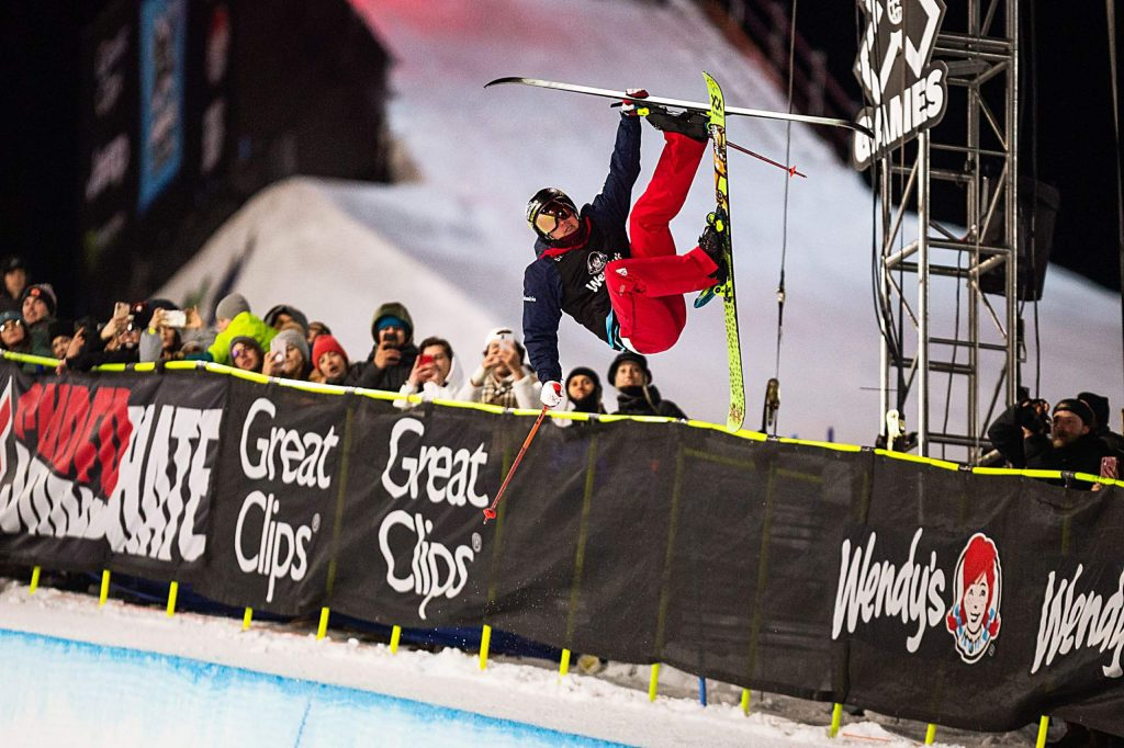 Aspen's Alex Ferreira wins gold in the men's ski superpipe finals on Sunday, Jan. 26, 2020, at Buttermilk Ski Area in Aspen Snowmass, Colo. (Liz Copan/Summit Daily News via AP)