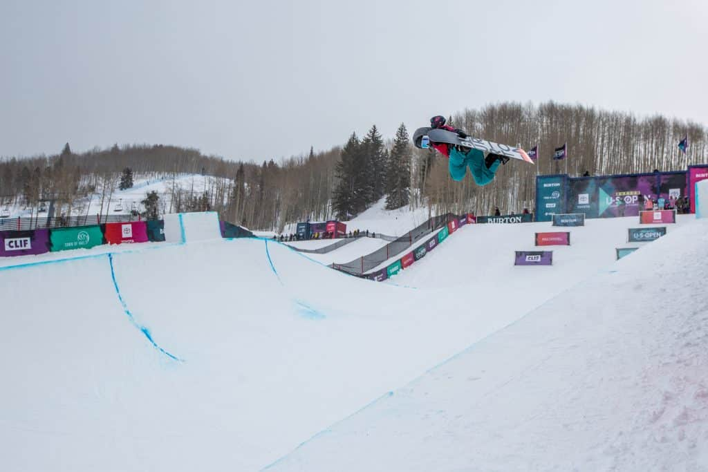 Rinka Nishizuka, 14, from Japan took second in the girls Junior Jam Halfpipe competition, Tuesday.