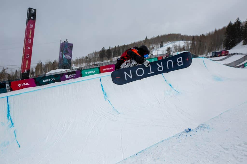 Fynn Bullock-Womble, 15 took first place at teh Boys Junior Jam Halfpipe competition