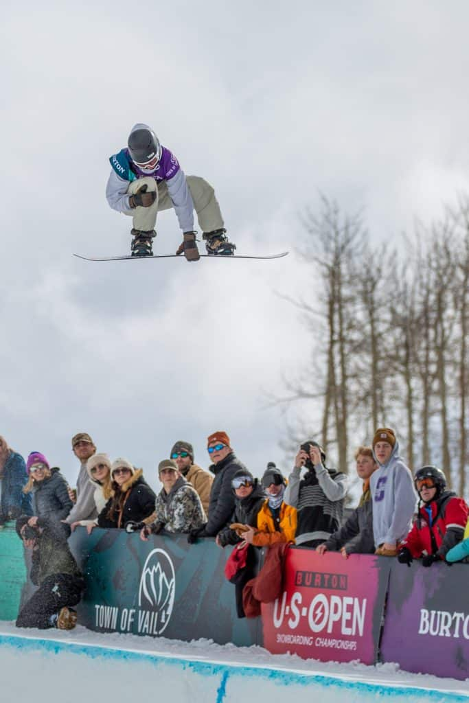 Pat Burgener currently holds second place after Thursday's Halfpipe Semi-finals.