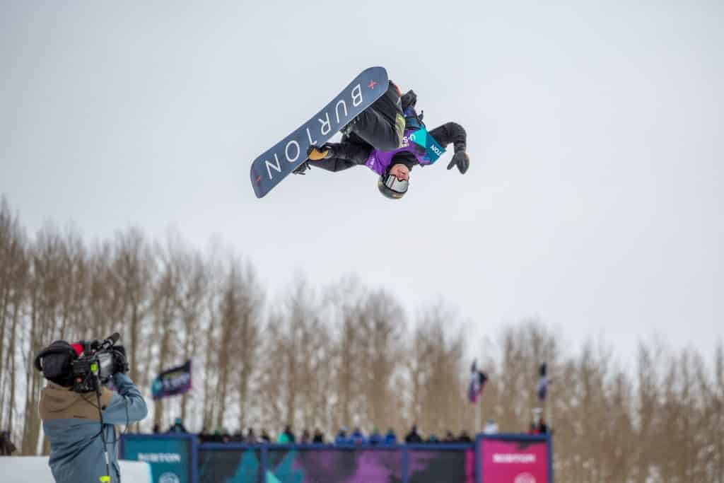 Jake Pates from Eagle took 4th in Thursday's Halfpipe Semi-Finals.