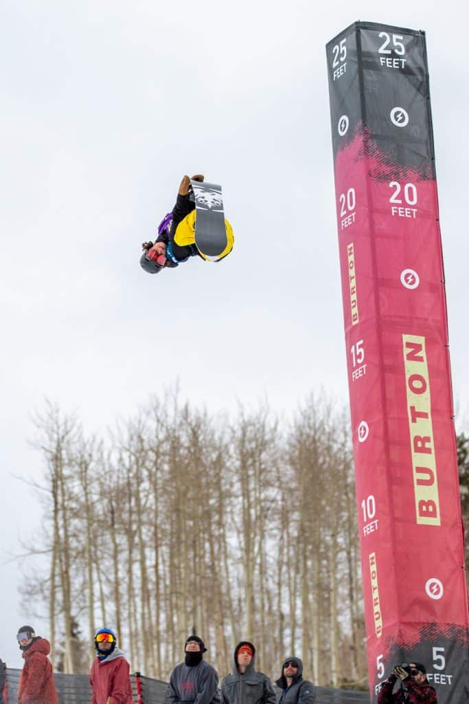 Chase Blackwell from Longmont celebrated his 21st birthday in the halfpipe Semi-Finals, and will be competing in the finals on Saturday.