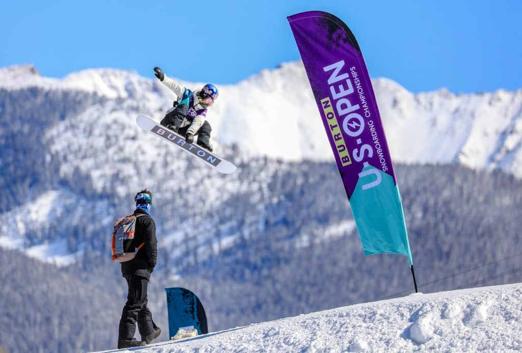 Anna Gasser hits a jump during the Burton US Open womens slopstyle semi-finals Wednesday in Vail. Gasser finished second, qualifying for Friday's finals.