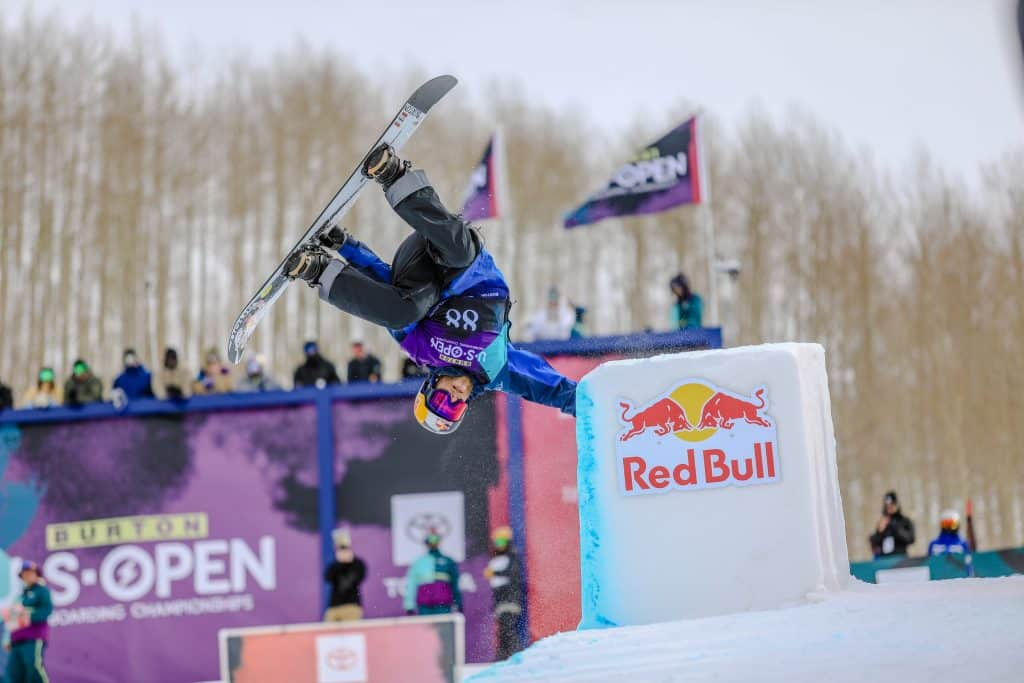 Ben Ferguson during the mens halfpipe semifinals for the Burton US Open in Vail.