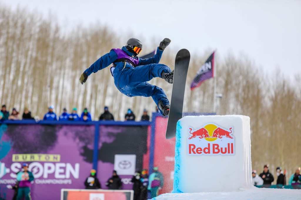 Joshua Bowman during the mens halfpipe semifinals for the Burton US Open in Vail.