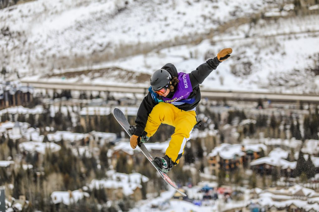 CHase Blackwell during the mens halfpipe semifinals for the Burton US Open in Vail.