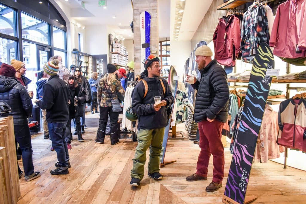 The Jake Burton Exhibit at the Lionshead Burton store featured all things Jake, including boards from his own personal collection.