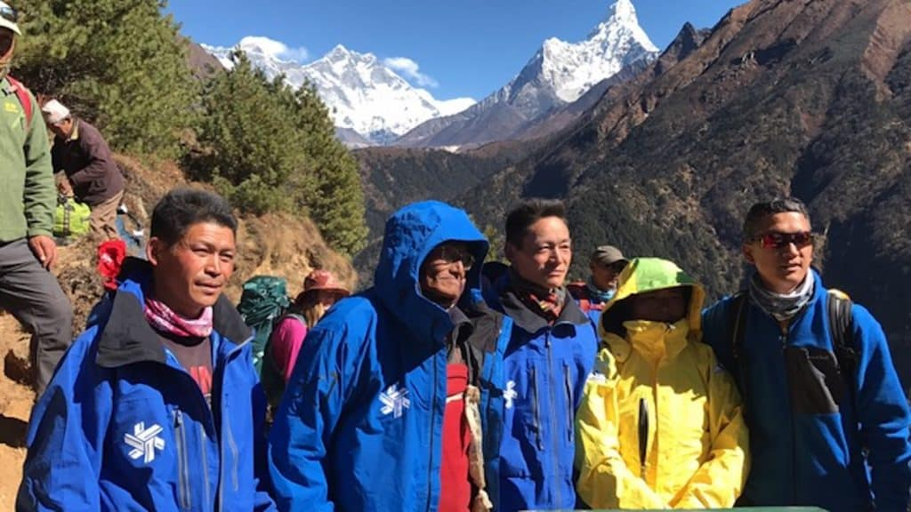SWAG, Sharing Warmth Around the Globe, distributes retired ski area employee uniforms to cold-weather places in developing countries around the world. This is Nepal.
