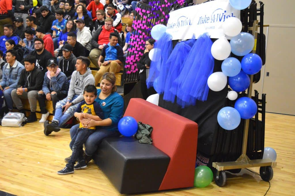 Rehan Fernandez and his mother, Isabel, were the guests of honor as Eagle Valley High School kicked off Wish Week, working with Make-A-Wish Colorado.
