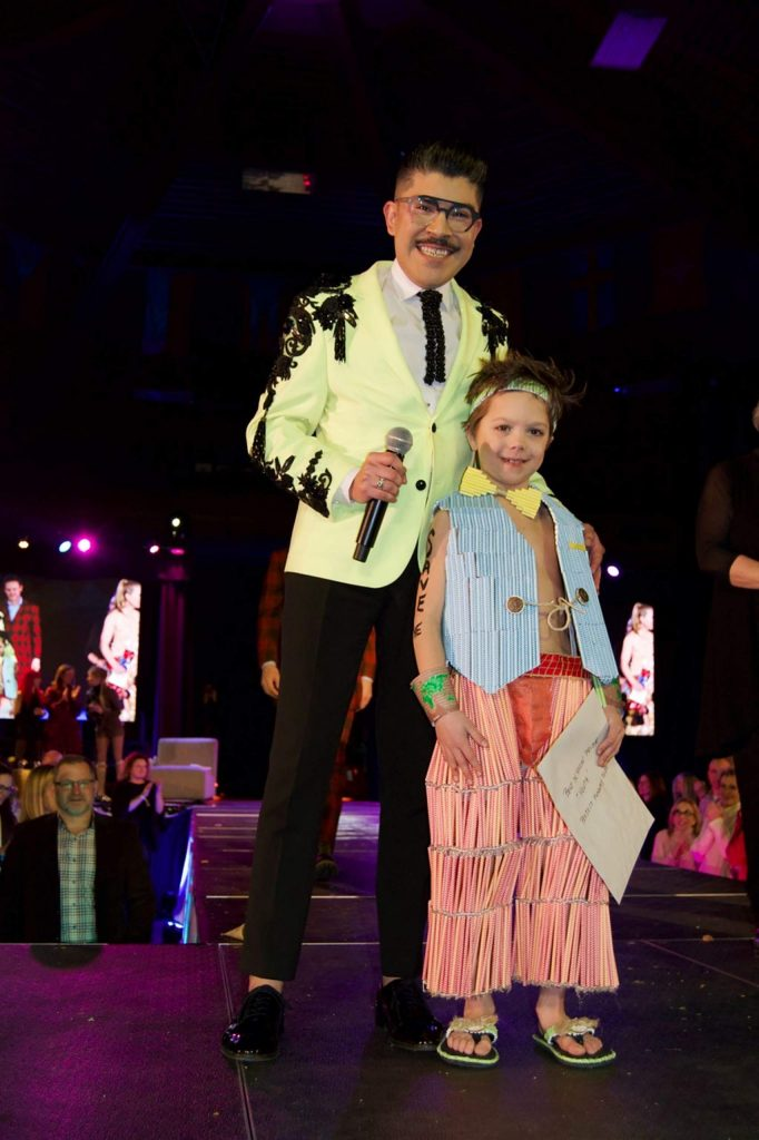 Mondo Guerra poses with Best in Show winner Giovanni Napoli. The 8-year-old opened the event with a fierce runway walk that had the crowd literally screaming.