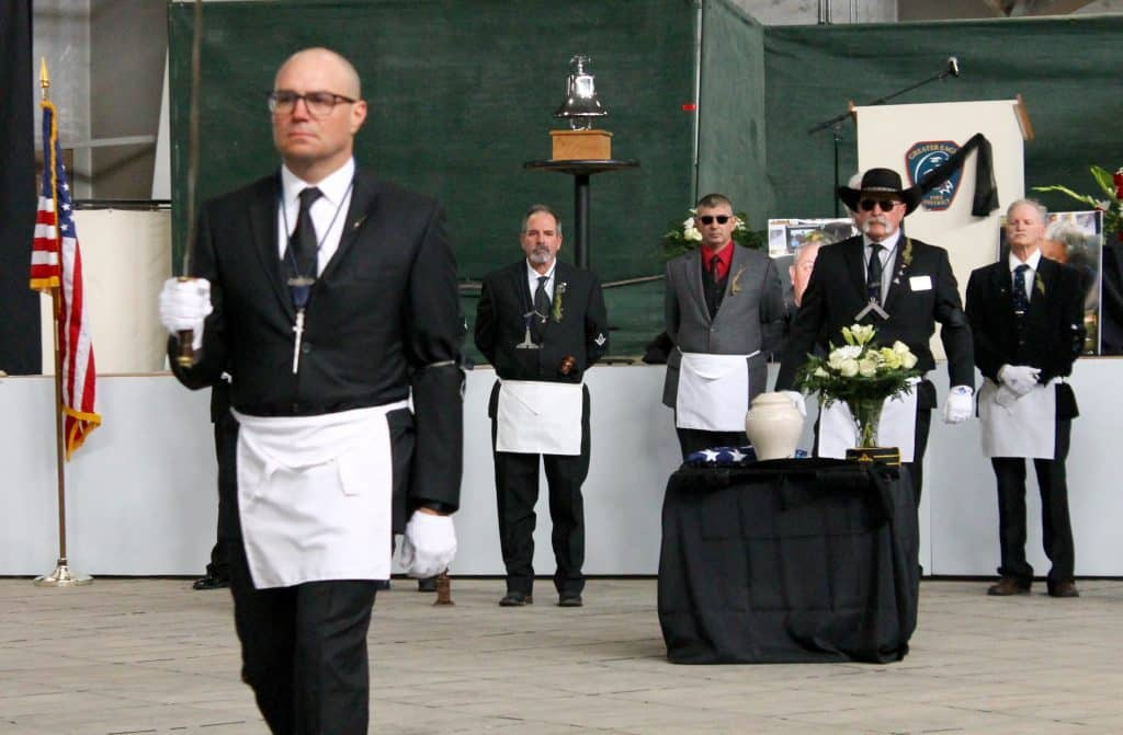 Masonic Memorial Service led off Asper's Celebration of Life Saturday. Fellow Masons noted Asper had been active with the Castle Lodge No. 122 for more than 15 years.