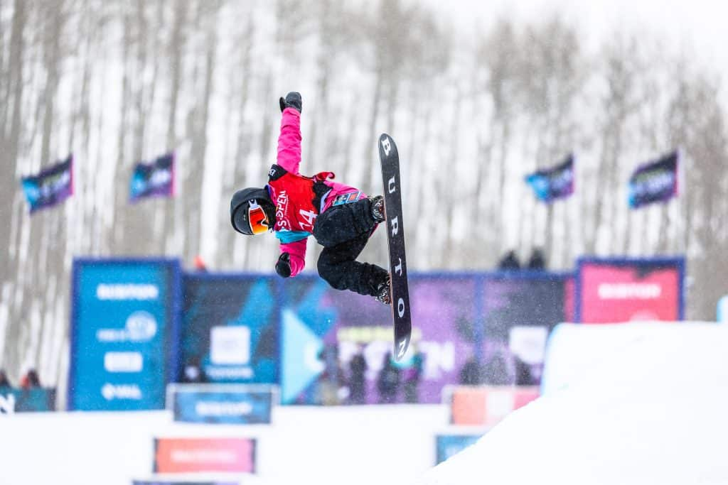 Patti Zhou competes in the Burton US Open Junior Jam Tuesday in Vail. Zhou is only 8-years-old.