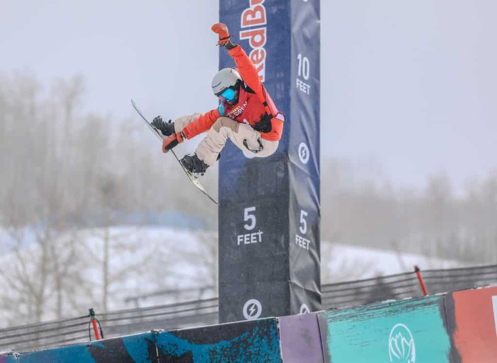Edwards' Beckett Indy grabs during the Junior Jam Tuesday in Vail.