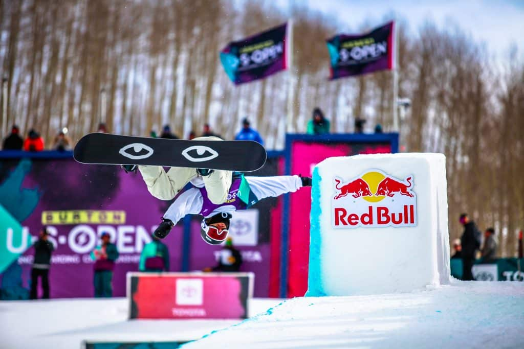 Pat Burgener gets inverted during the mens halfpipe semifinals for the 2020 Burton US Open in Vail. Burton Snowboards announced Tuesday that is has canceled the 2021 event in Vail.