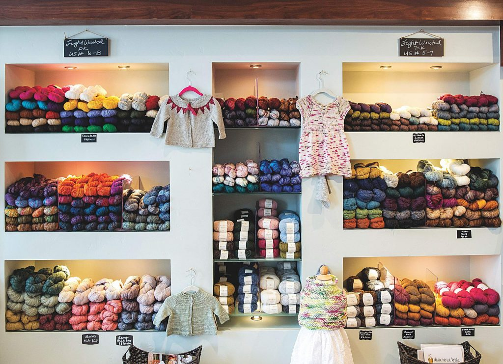 With yarns that range from Colorado-sourced to rare finds, Maker+Stitch's offerings supply a practical purpose