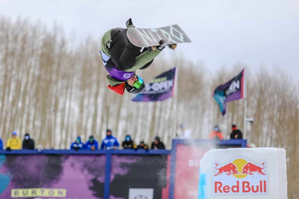 Rakai Tait goes inverted off the tombstone feature for the mens halfpipe semifinals Thursday in Vail. Tait, though hails from New Zealand, graduted from Vail Mountain School in 2017.