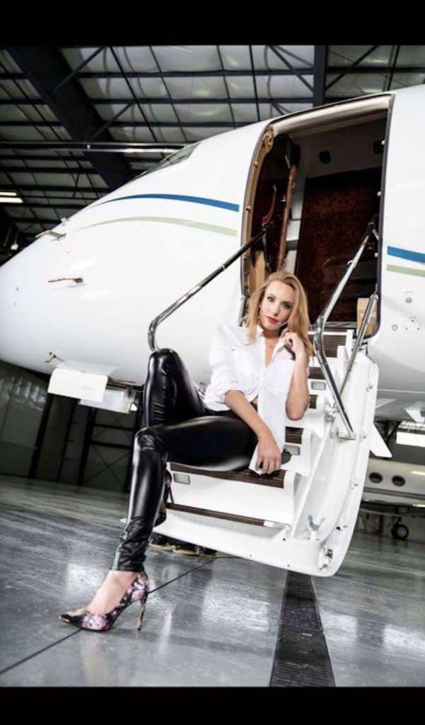 Isabelle Moore is a jet pilot, model, fitness instructor and mother of three children. She's taking a shot at Jetset magazine's Miss Jetset title.