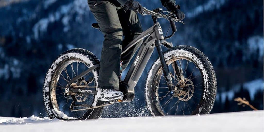 QuietKat and Jeep partnered to sell the electric mountain bikes.