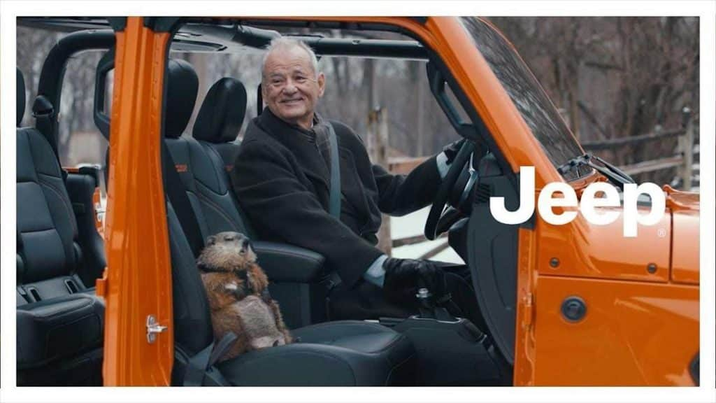 The Super Bowl commercial reprised Bill Murray's role in the movie